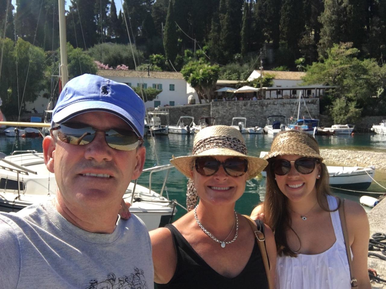 Fun and sun in the Greek island ofCorfu..